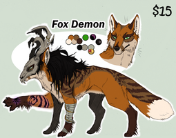 Fox Demon PAYPAL ADOPT GONE by KasaraWolf