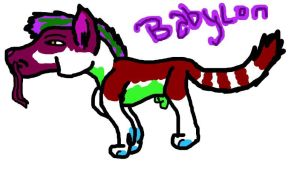 BabyLon the SnowFish Wolf by lubca