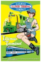 Illinois Terminal Pin-Up by yankeedog