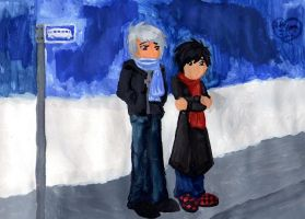 Request: Waiting For The Bus by Aissu