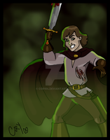 Angry Guy with a Sword by Cor104