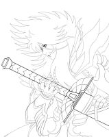 Hades Sama Lineart by Ferenand