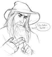 Poor Gandalf by caffeinetooth