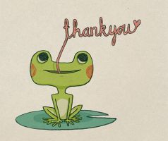 Thank You Frog by enkana