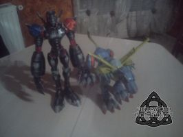 Digimon MetalGarurumon + HiAndromon Papercraft by HellswordPapercraft