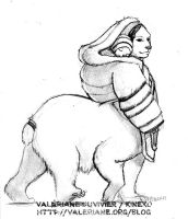 Late draw a centaur day - Polar mama by kineko