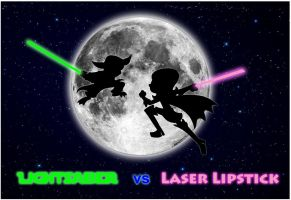 Lightsaber vs Laser Lipstick by Guy-Hamdon