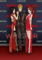 Resident Evil 6 Red Carpet - Ada x Leon x Claire by Whisper1093