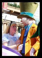 Mr. Hatter and Alice by PlaidBowTie