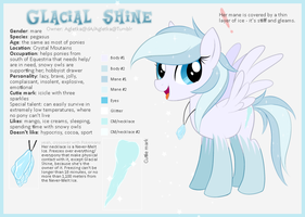 Glacial Shine reference sheet by Agletka