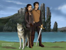 Arya And Gendry by BlackRoseOfSummer