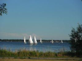 Boats on the Bay by Totaler