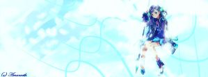 Anime Girl Frost Themed Timeline Cover by Amanveth