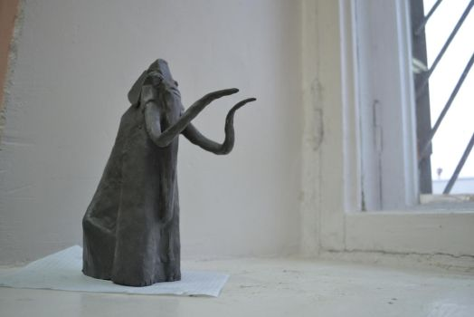 Mammoth sculpture by anaomsk