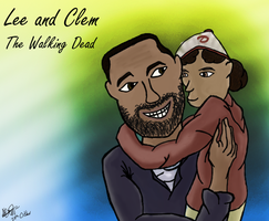 Lee and Clem by NoodleSuperPot