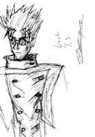 Vash the Stampede Sketch by JediKaputski