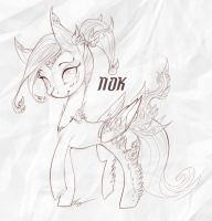 Nok the Kinnara Pony by Legacy350