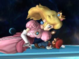 Mario and the giant Peach by Boltession