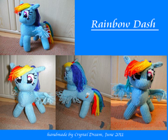 Rainbow Dash the plushie by Crystal-Dream