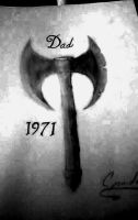 tattoo in honer of my dad, will add death date whe by TicciCJ