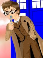 Dr Who close up by Ubermidget