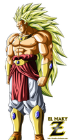 Broly Legendary Super Saiyan 3 by el-maky-z
