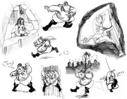 Chester Griffen Action Poses by teague