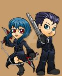 Clockers: Juuni and Zero Chibis by JuuniLee
