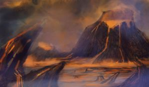 volcanic planet by Ahinora