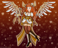 [Izka] Steampunk Angel by izka197