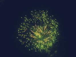 Green and Explosion by Diellza