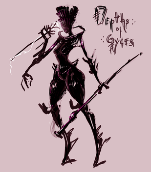 Depths of Gyges - Protagonist by Susfishous