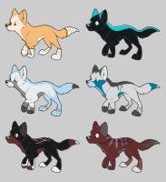 Wolf Puppies 5 points by Leland-Adopts