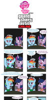 Ponies Playing Grand Theft Auto Online by Inspectornills