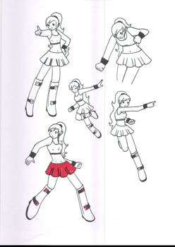 Fate Cheerleader suit mode by Nes-chan