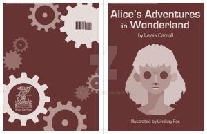 Alice in Wonderland Book Cover by hglucky13