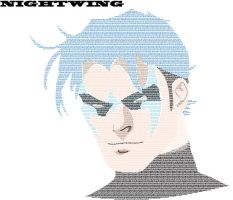Nightwing Typed Face by mca2008