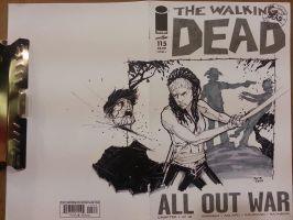 Walking Dead Wondercon 2014 commission by Ace-Continuado