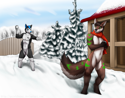 Snowball Game by Paintchaser