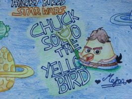 Angry Birds Star Wars:Chuck Solo[Yellow Bird] by MeganLovesAngryBirds