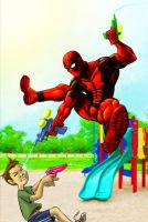 Summer Time Deadpool by DecayingArt