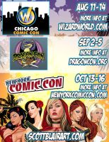 Upcoming Conventions by scottblairart