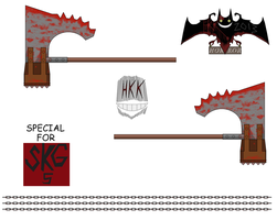 Executioner Majini  axe hammer by hollowkingking