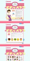 Cupcakes Website Design by InsightGraphic