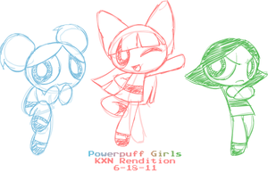 Sketch - Powerpuff Girls by kevinxnelms