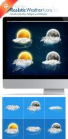 60+ Realistic Weather Icons by anekdamian