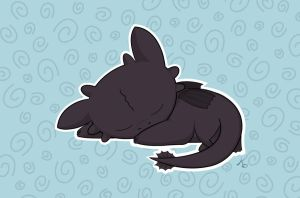 HTTYD Baby toothless by Korikian