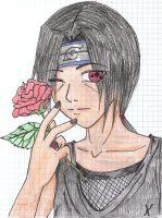 Itachi Uchiha---Rose by CountUchiha