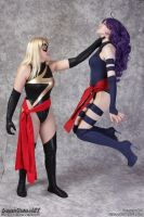 Ms Marvel vs Psylocke: Your Fight is Futile by EccentricCasey