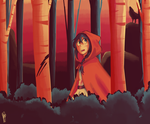 Yonder Red Ridding Hood by skyblitzhart
